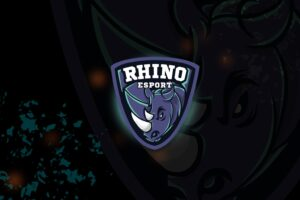 esport logo – fierce rhino