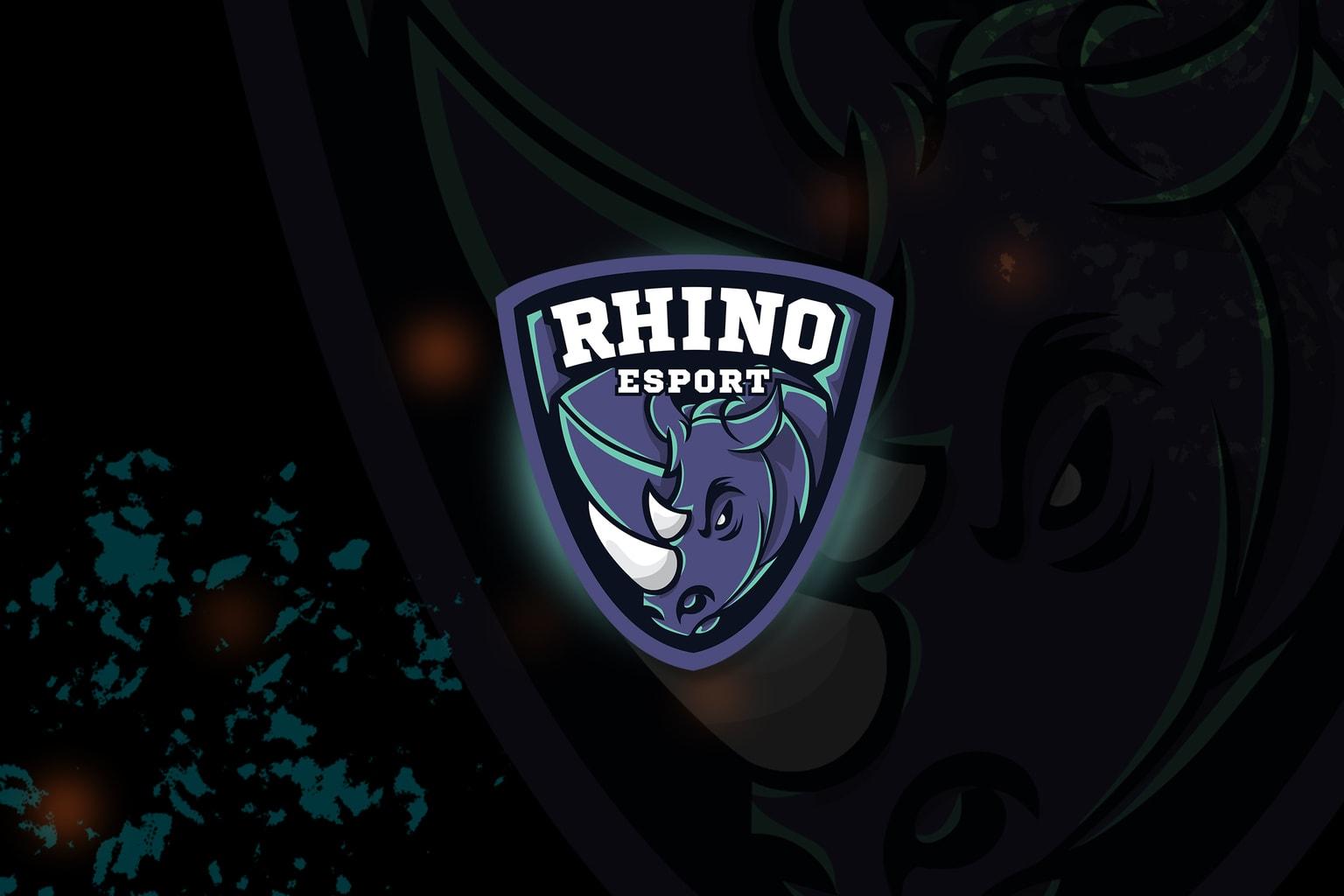 esport logo – fierce rhino