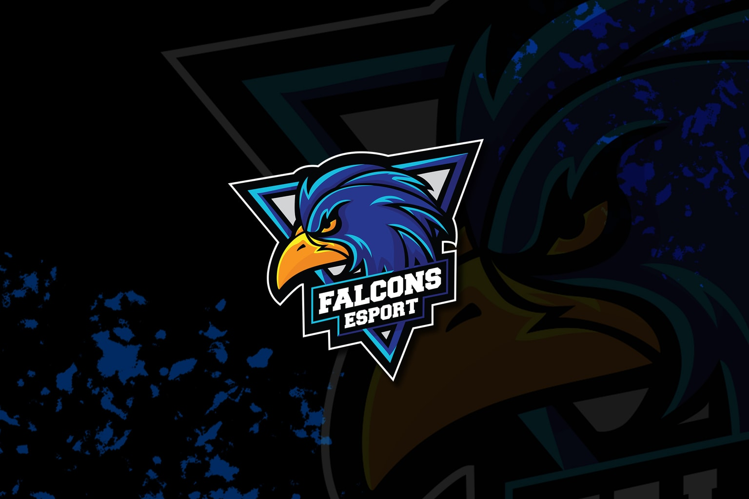 esport logo – mighty falcon 1