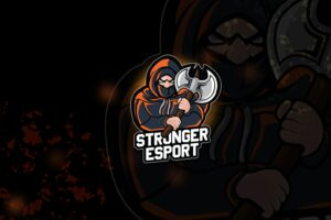 esport logo – stronger knight