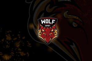 esport logo – wolf destroyer