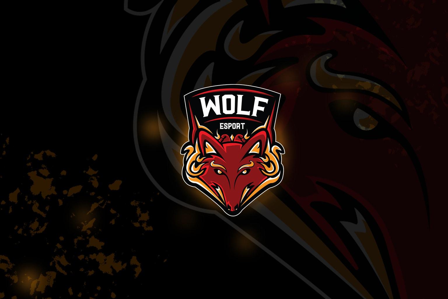esport logo – wolf destroyer