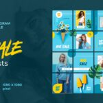 instagram puzzle – casual blue style