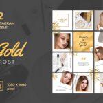 instagram puzzle – gold makeup