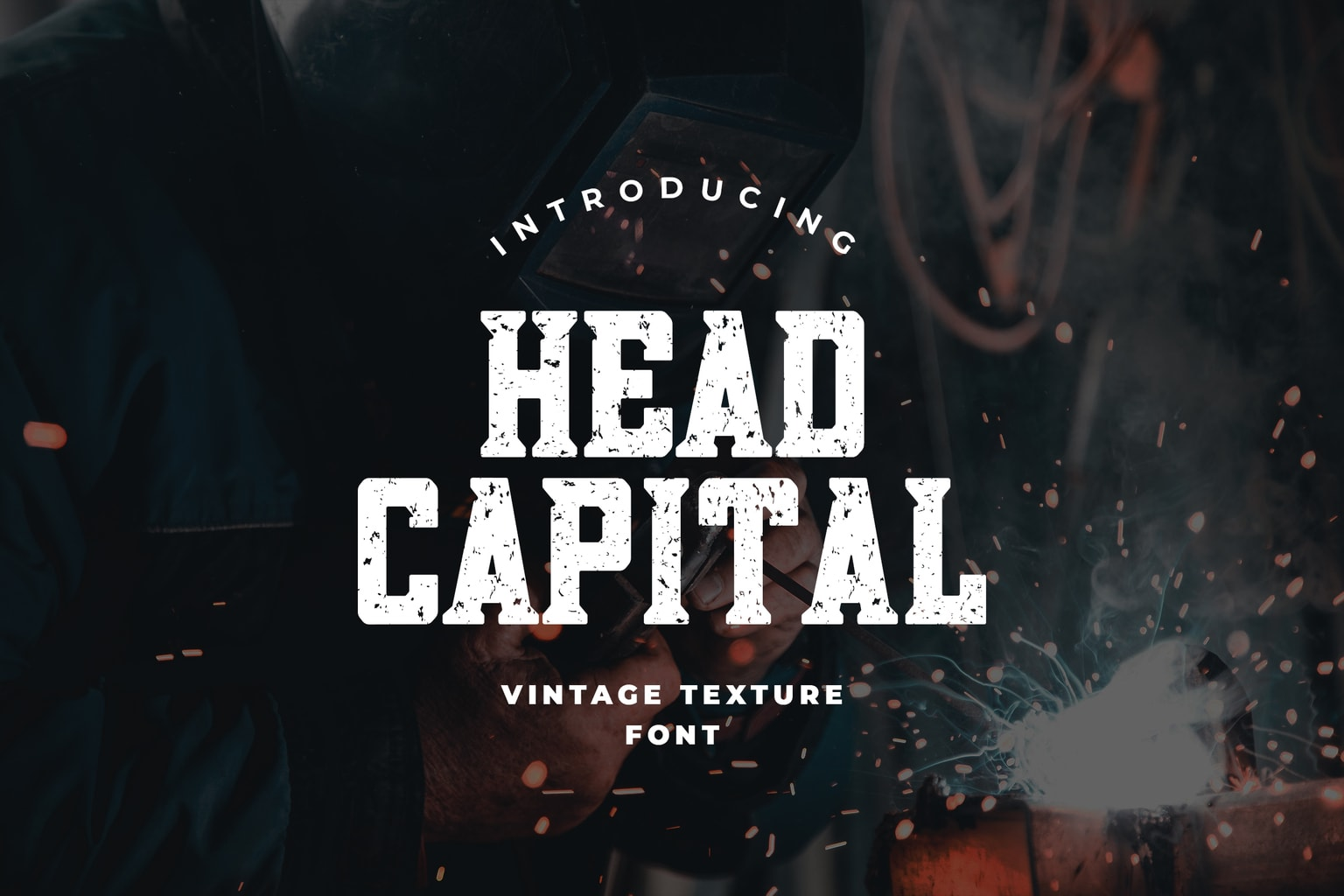 head capital display font