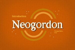 neogordon serif display font