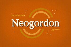 neogordon serif display font