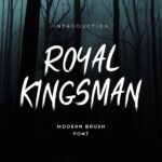royal kingsman handbrush typeface