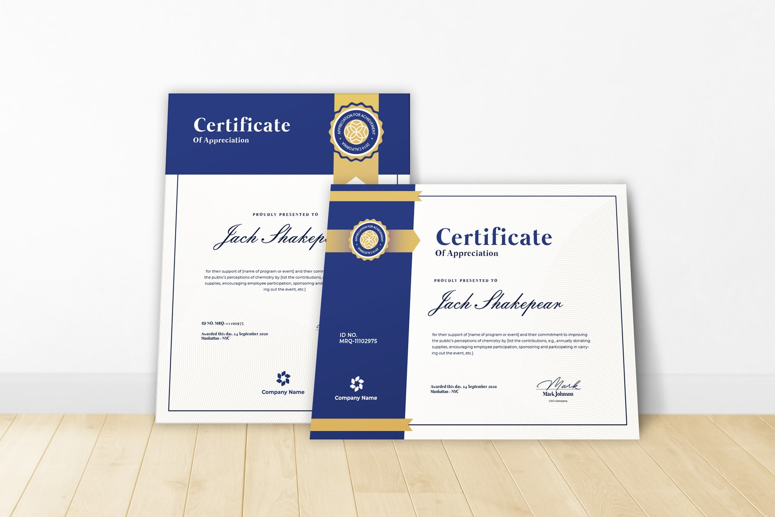 certificate company recognition