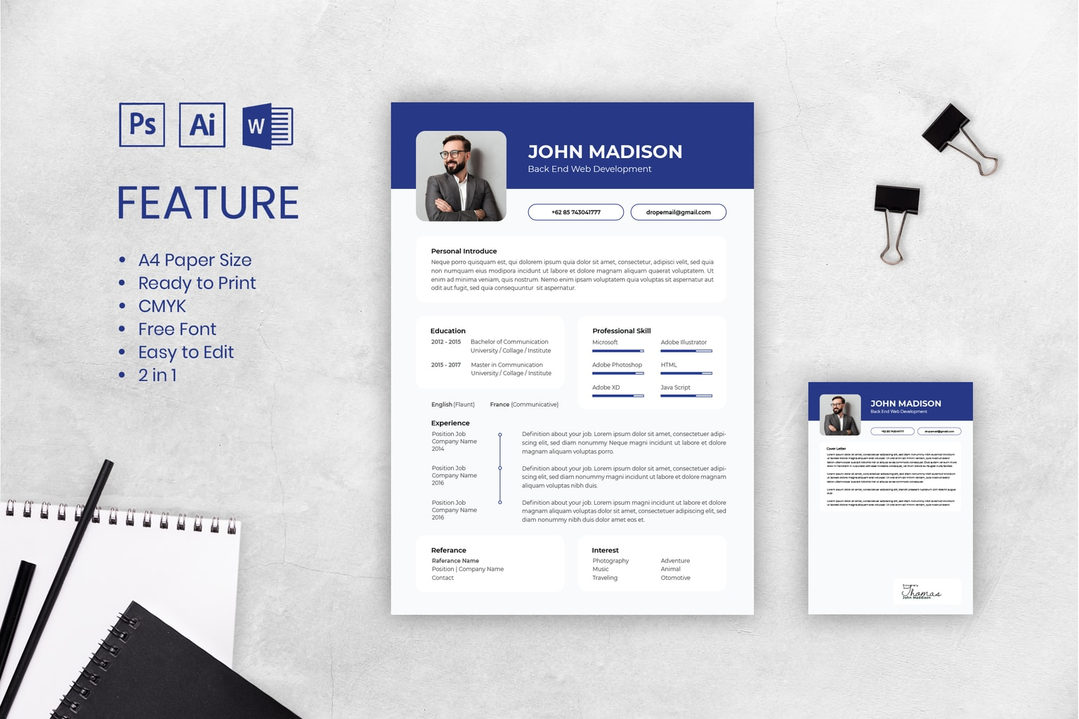 cv resume back end web development