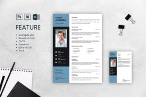 cv resume men graphics design