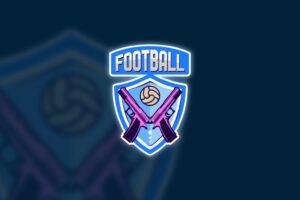 esport logo football gun