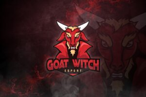 esport logo goat witch