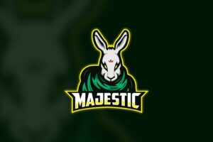 esport logo majestic rabbit