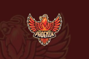 esport logo phoenix king