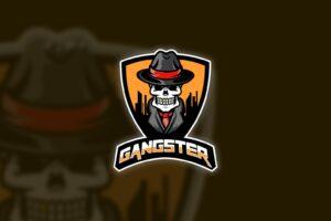 esport logo skull gangster