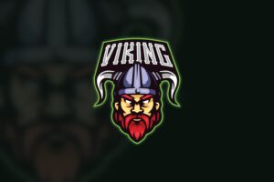 esport logo viking battler