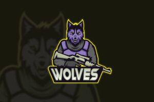 esport logo wolf army