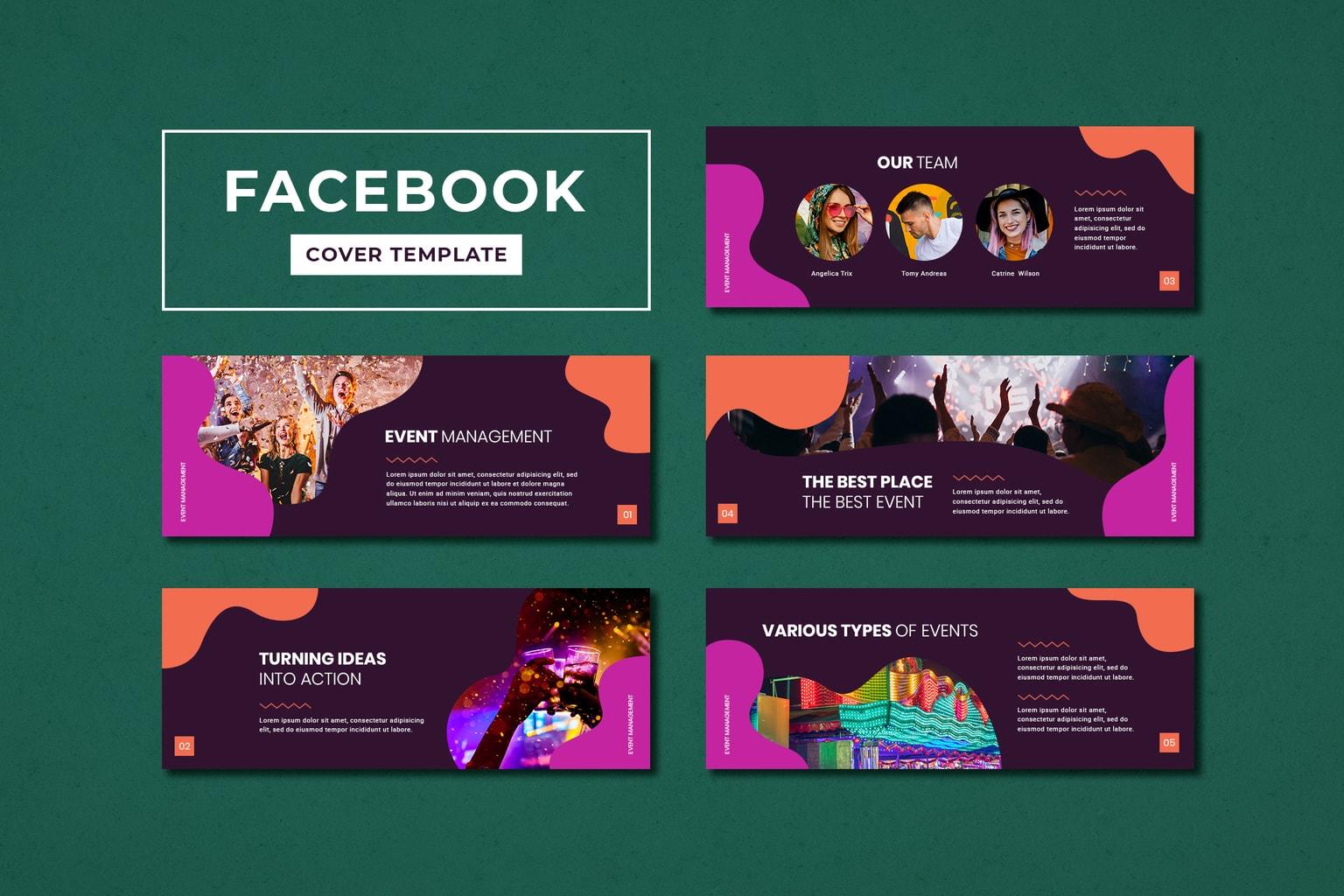 facebook cover event management