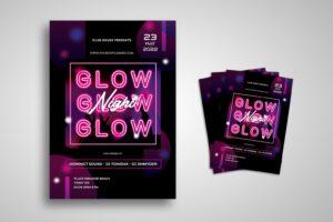 flyer night music glow