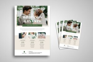 flyer wedding event services