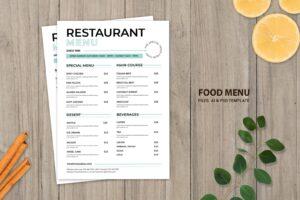 food menu natural acid dishes