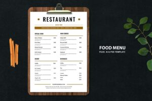 food menu soft dishes