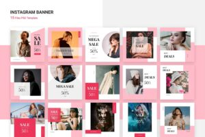 instagram banner mega sale fashion