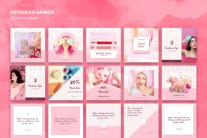 instagram banner pink fashion sale