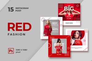 instagram banner red fashion style 3