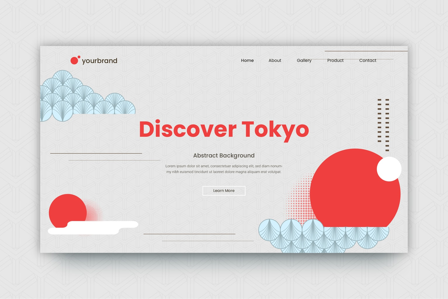abstract background discover tokyo theme