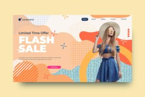 abstract background fashion sale offer
