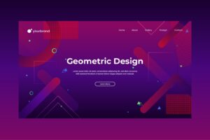 abstract background geometric 80s style 4
