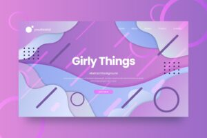 abstract background girly colorful theme 1