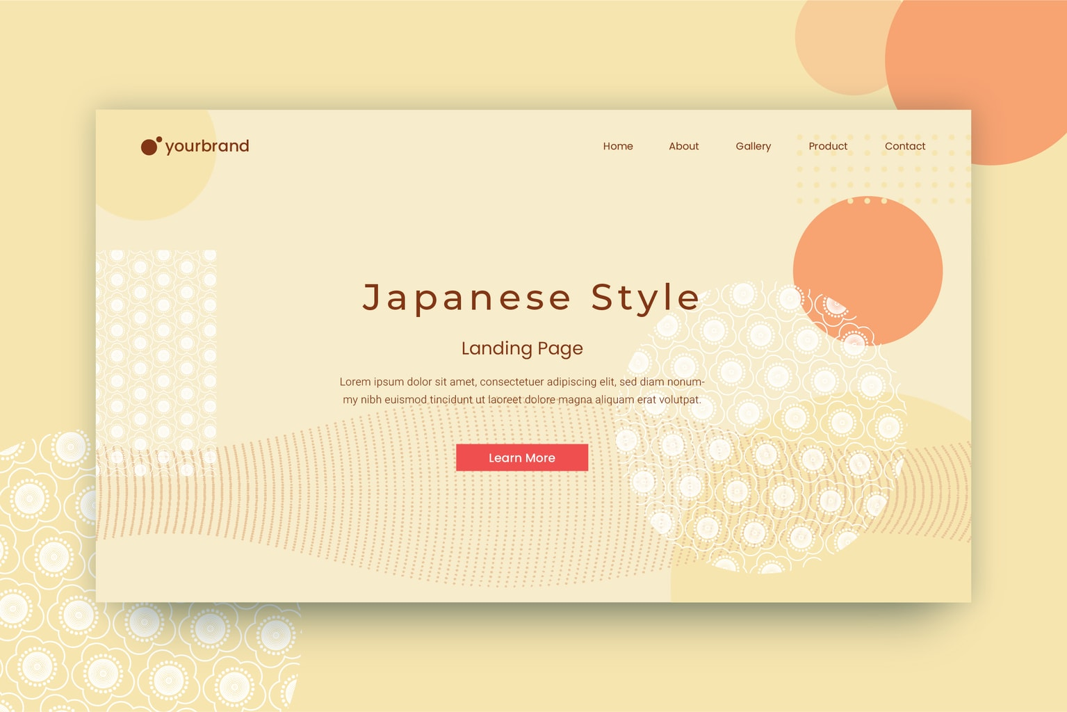 abstract background japanese minimalist motif