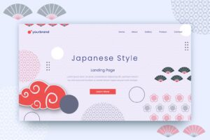 abstract background japanese style motifs