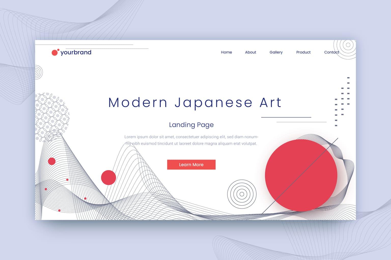 abstract background modern japanese art