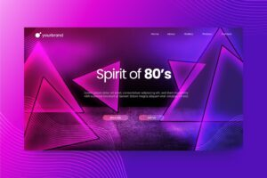 abstract background purple neon light theme