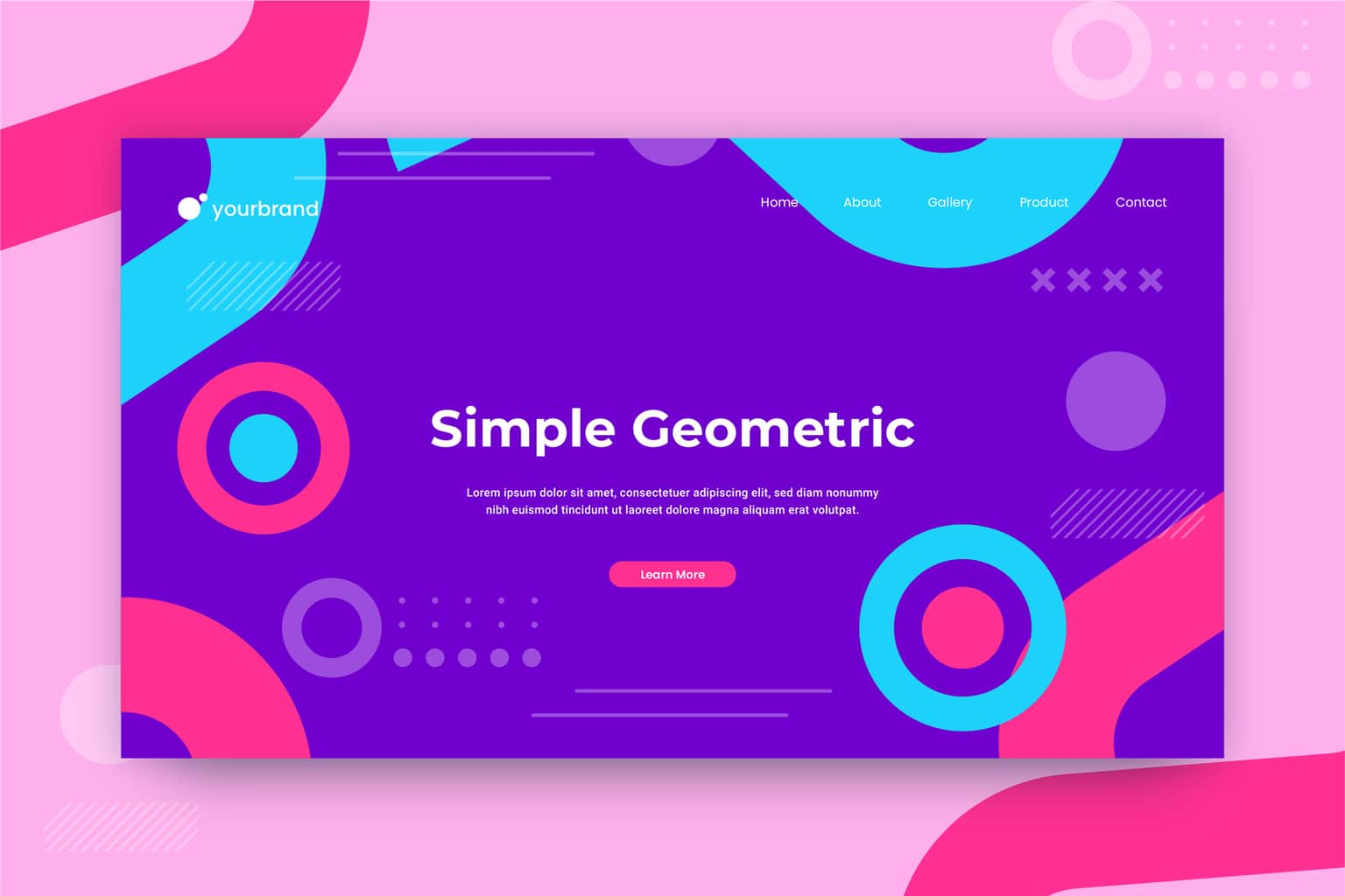 abstract background simple geometric circle