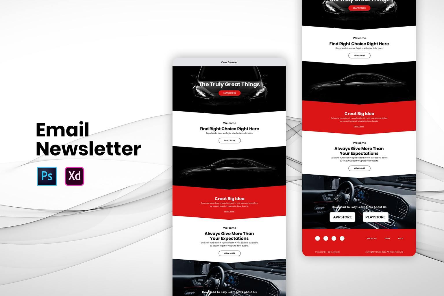 car showroom center email newsletter