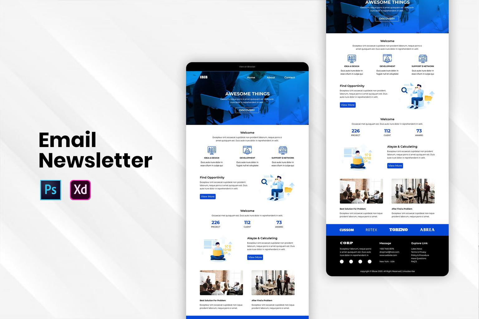 create business products email newsletter 1
