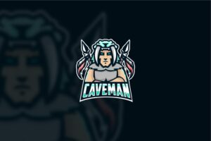 esport logo cavemen fighters