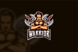 esport logo warrior ax