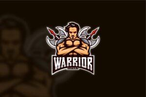 esport logo warrior ax