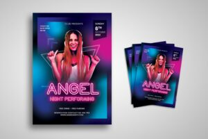 flyer angel night performing