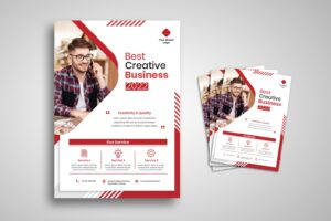 flyer best creative business