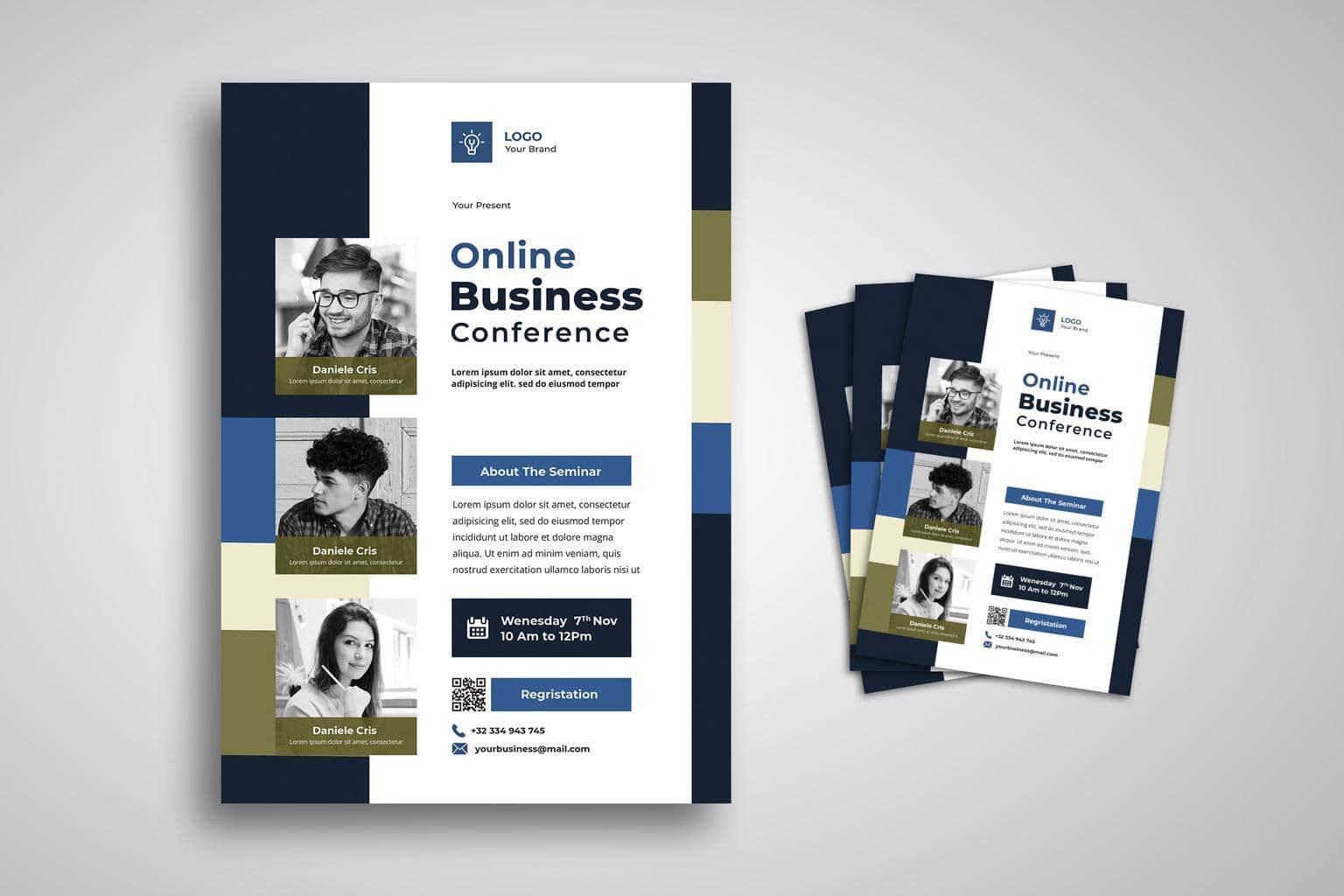 flyer businessman conference