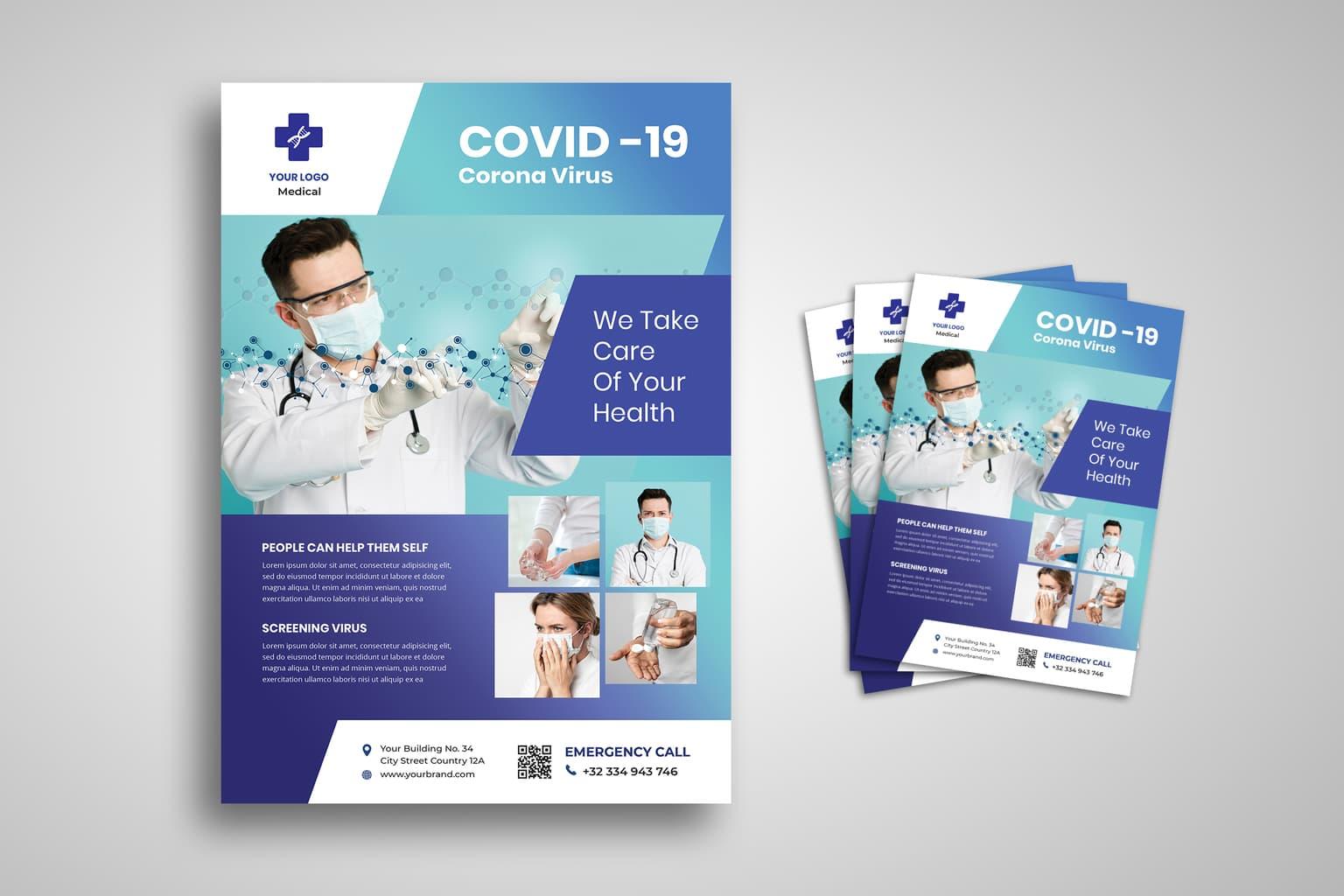 flyer corona virus treatment center 1