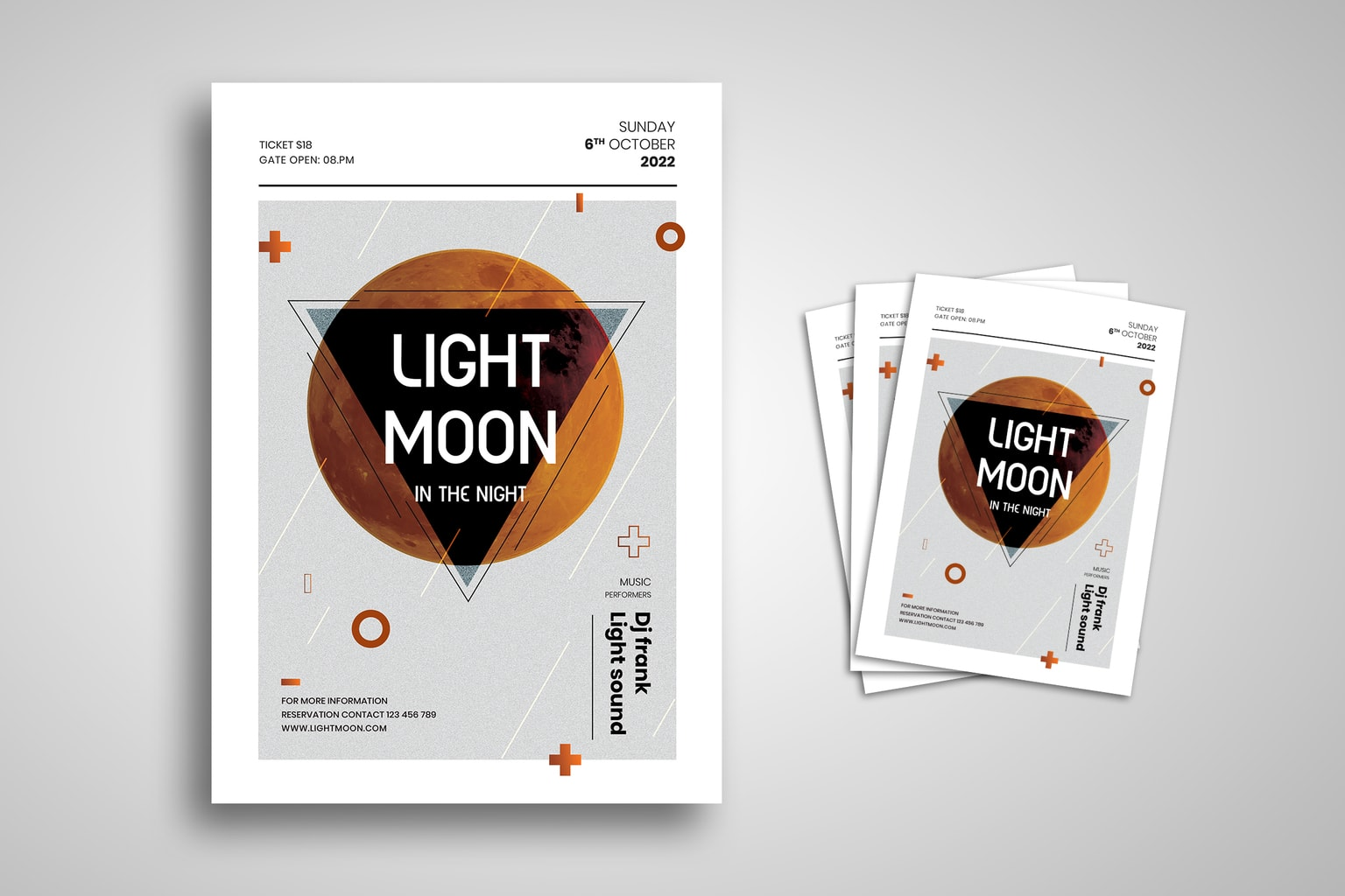 flyer light moon dance music