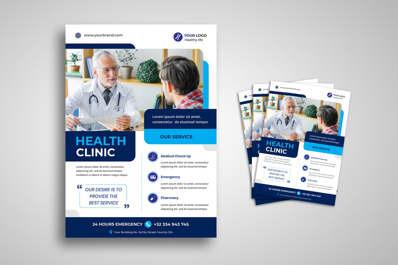 flyer medical clinic check up 1